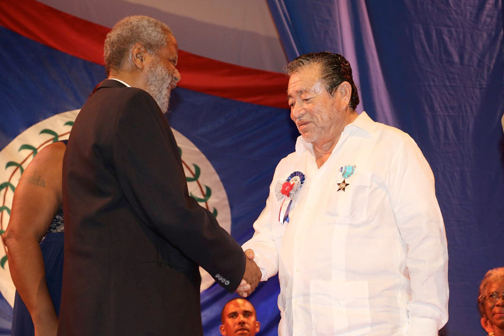 Pedro Salazar Sr. Honored at Tribute to Belizean Patriots Award Ceremony
