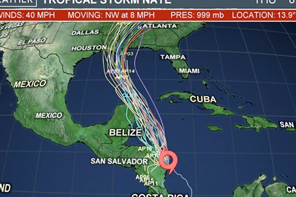 Main Threat of Tropical Storm Nate to Belize is Heavy Rainfall & Flooding