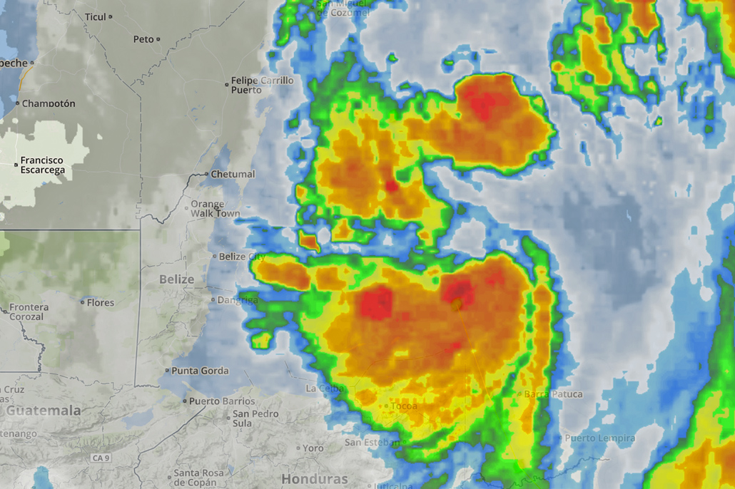 Tropical Storm Nate Maintains North-Northwest Track Away from Belize