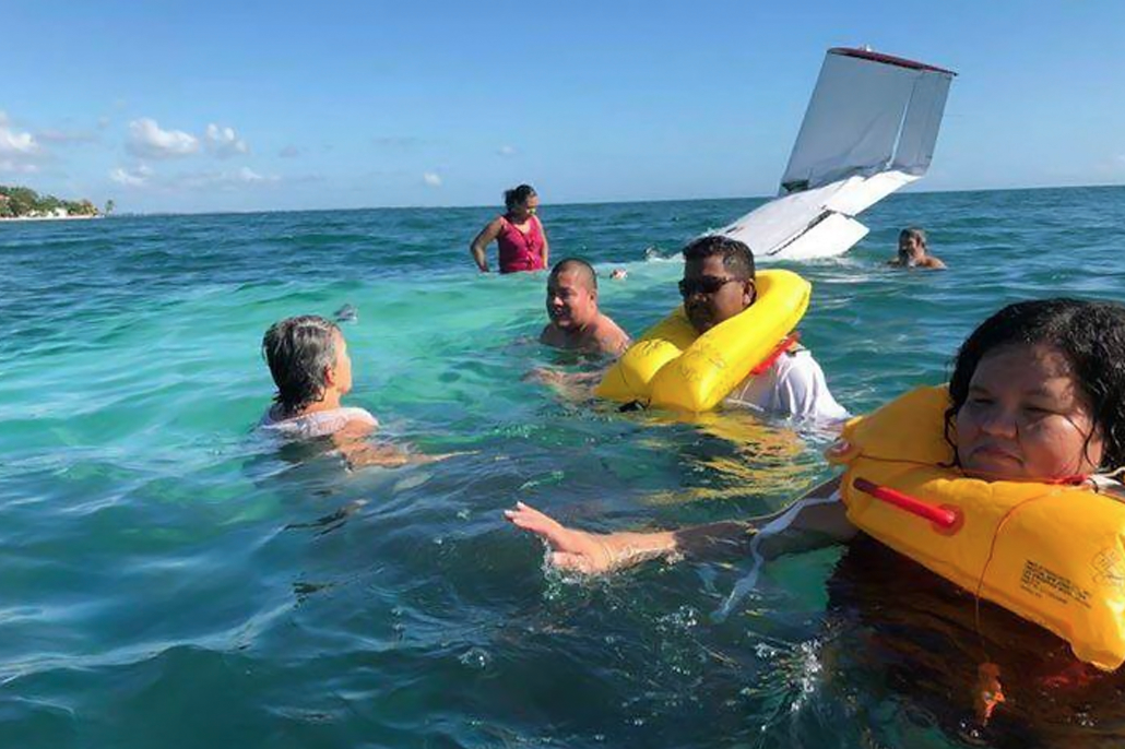 Ministers Patrick Faber and Godwin Hulse Safe After Plane Crash in Placencia