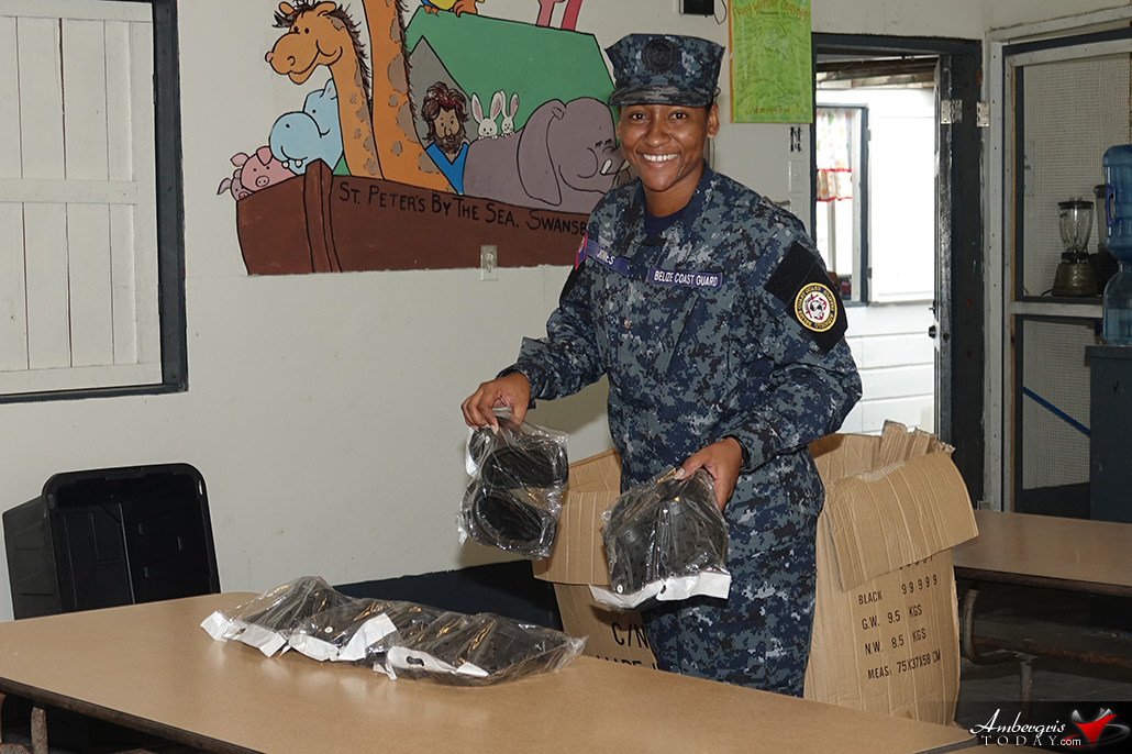 Belize Coast Guard Females Giveaway Shoes