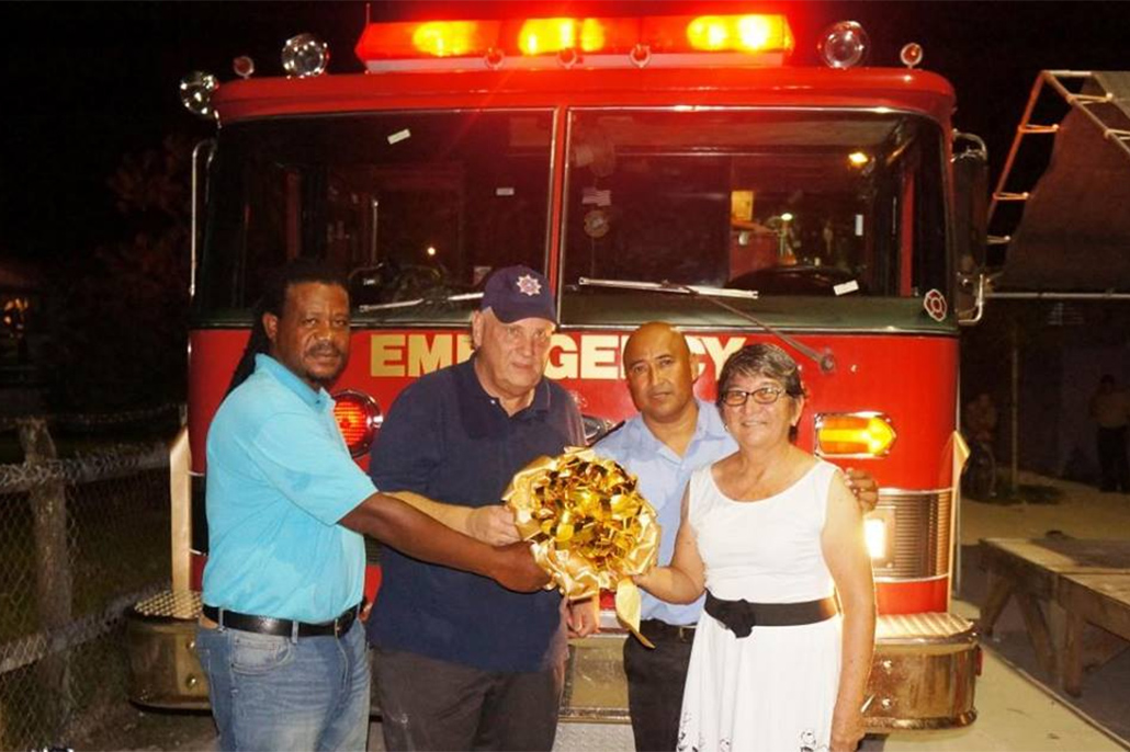 Caye Caulker Village Receives New Fire Truck