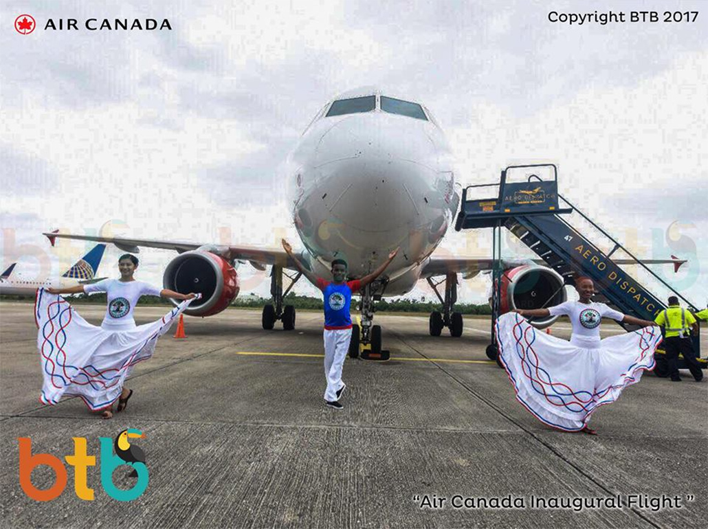 Air Canada Makes Inaugural Flight to Belize