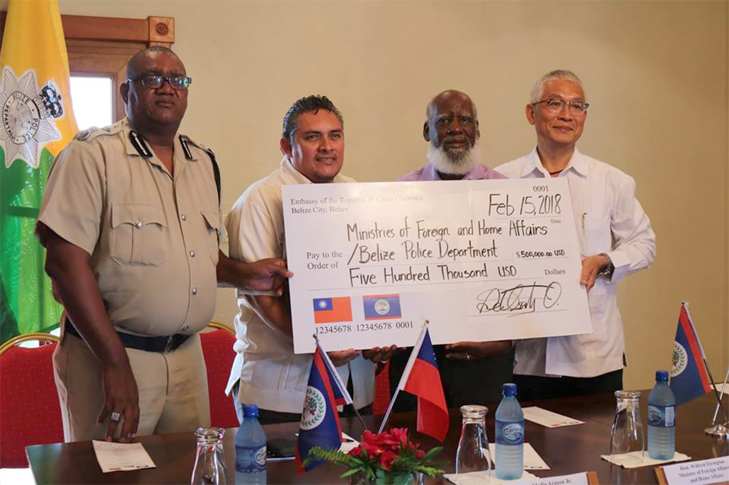The Republic of China Taiwan Grants US$500,000 to Belize as part of the Security Cooperation