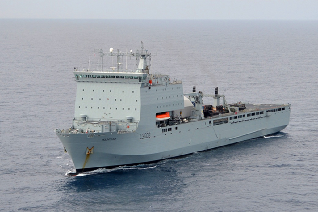 British Navy Humanitarian Aid ship to visit Belize
