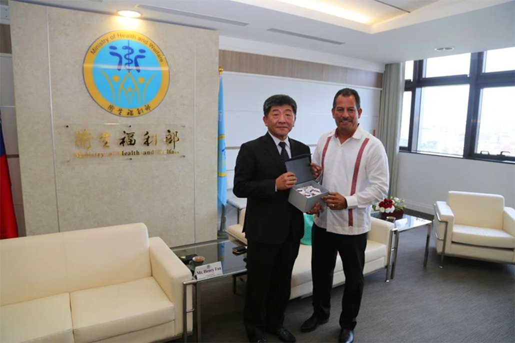 Hon. Pablo Marin Minister of Health Concludes Working Visit to Taiwan