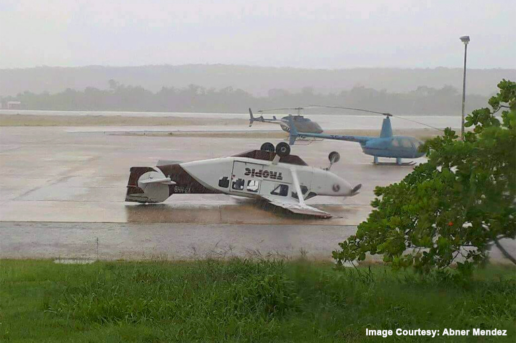 Freak Storm In Flores Damages Parked Tropic Aircraft
