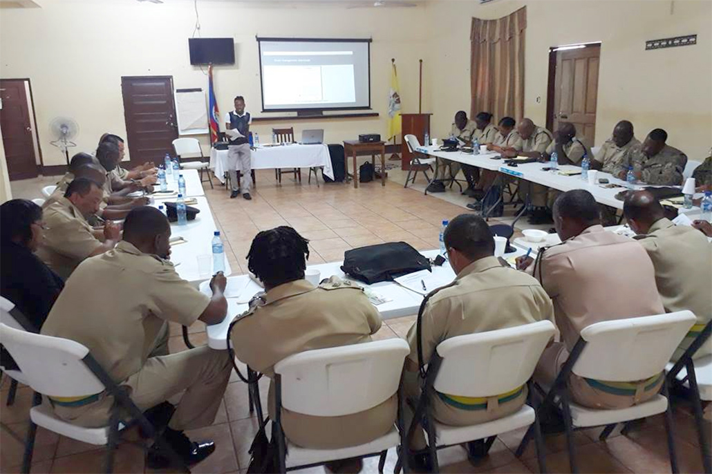 The Belize Police Department Receives Training on Stress Management, Dealing with Trauma and Suicidal Ideations