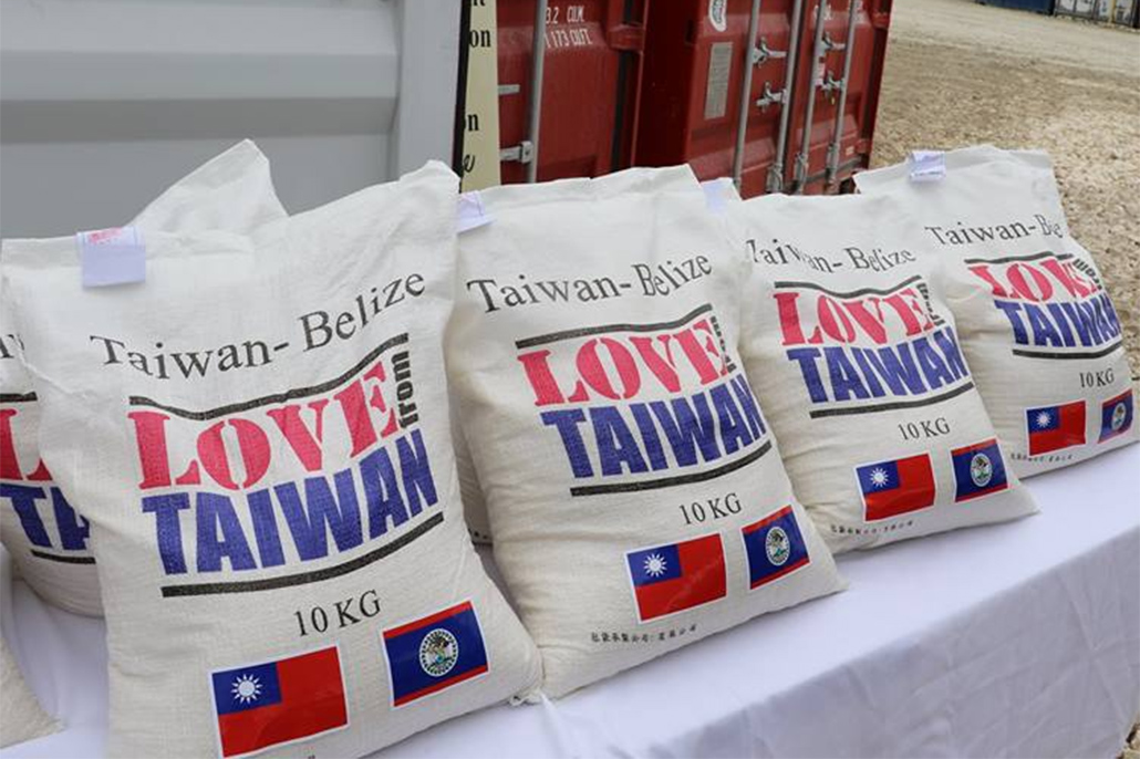 Taiwan Donates 10,000 Bags of Rice to Ministry of Human Development