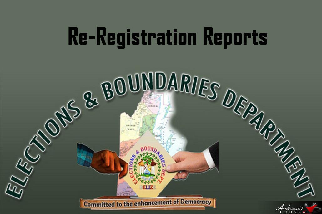 Re-registration of Electors Exercise Until September 2018