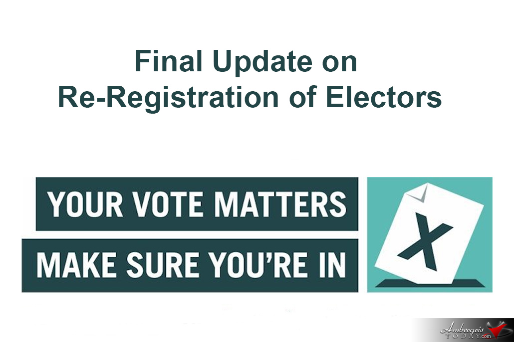 Final Update on the 2018 Re-registration of Electors Exercise