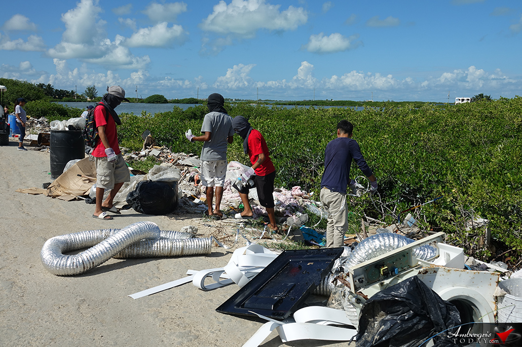 BTIA's Big Garbage Clean Up on Ambergris Caye