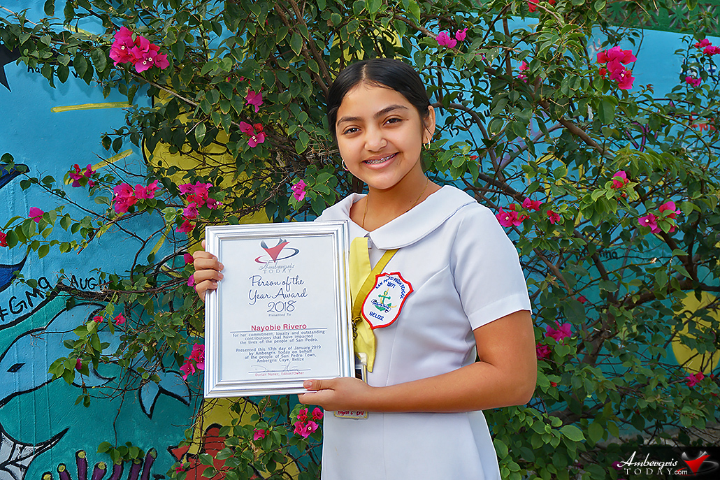 Ambergris Today Awards Nayobie Rivero Person of the Year 2018