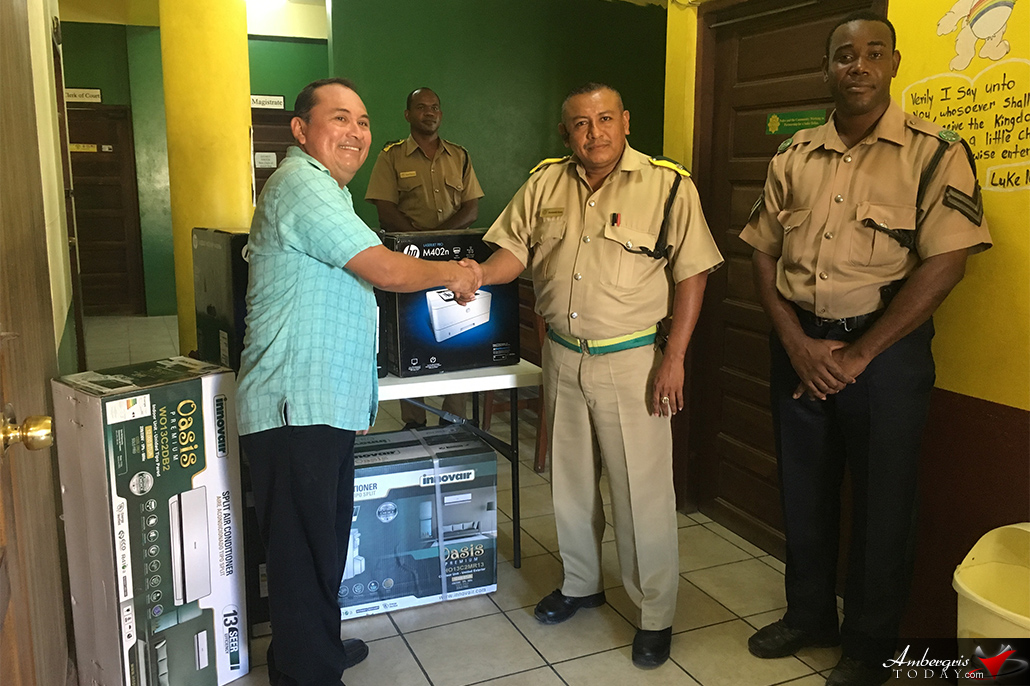 PUP Standard Bearer Donates AC and Printers to Police Department