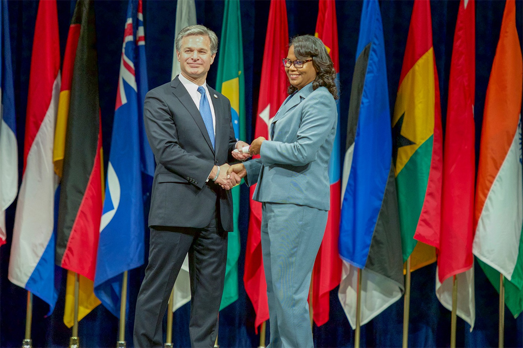 Sherlet Ramclam First Belizean Police to Graduate from the FBI National Academy