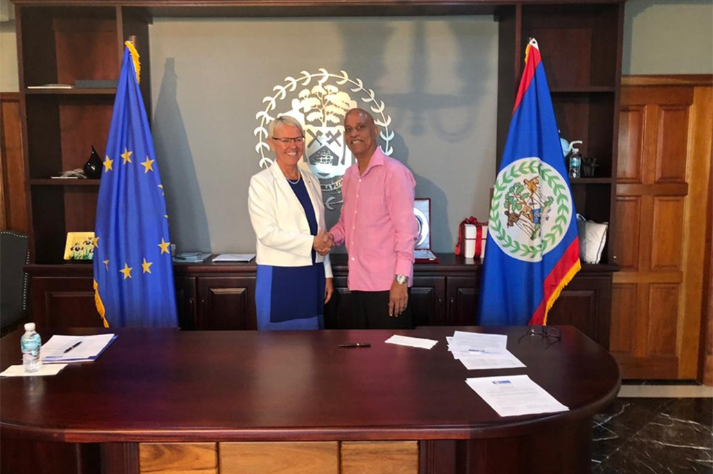 GOB and The European Union Sign Financing Agreement of BZ 31. 96 Million Grant Funding For Solar Mini Grids for Rural Areas