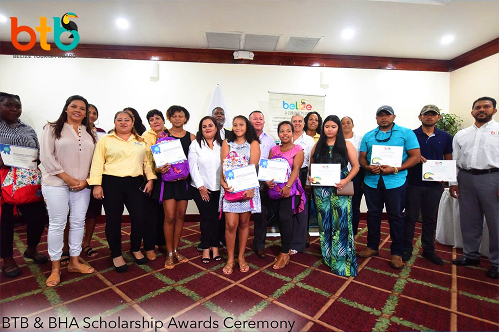 The BTB and BHA Award Scholarships To Ten Outstanding Belizean Students