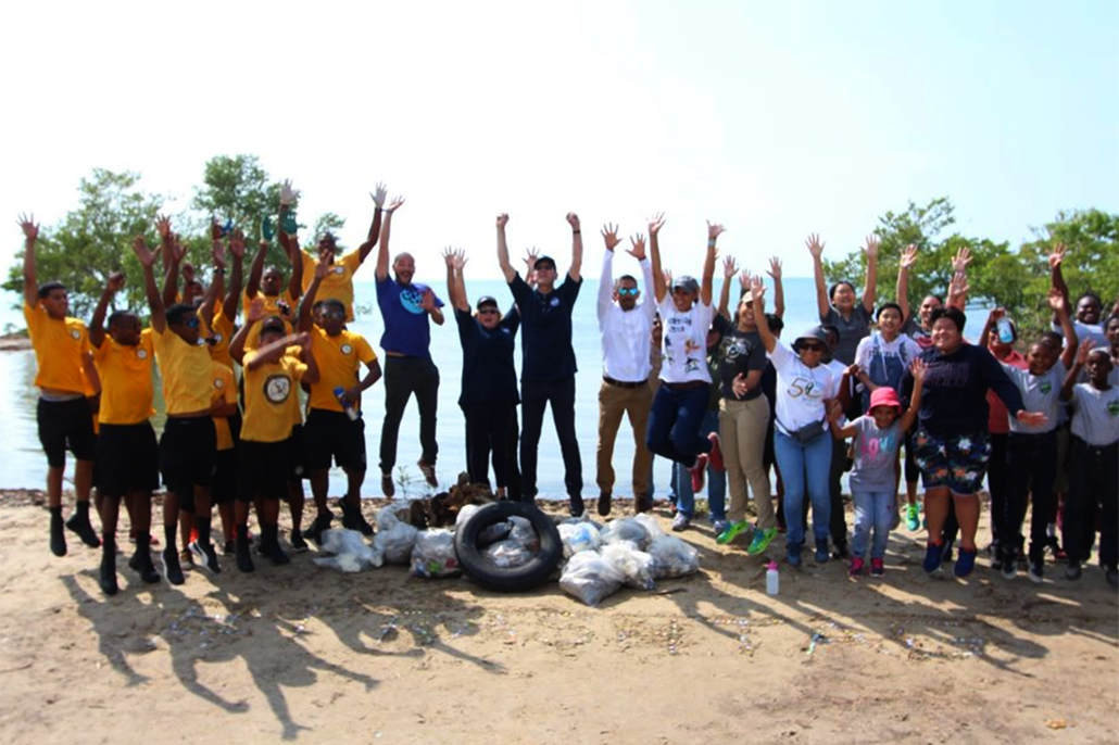 UK/Belize Commonwealth Litter Program's Week Launched with Beach Clean Up
