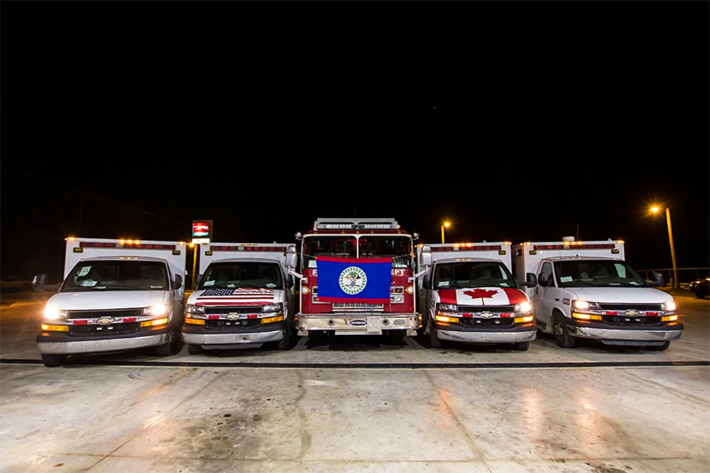 US Air Force Delivers Four Ambulances and A Fire Truck to Belize