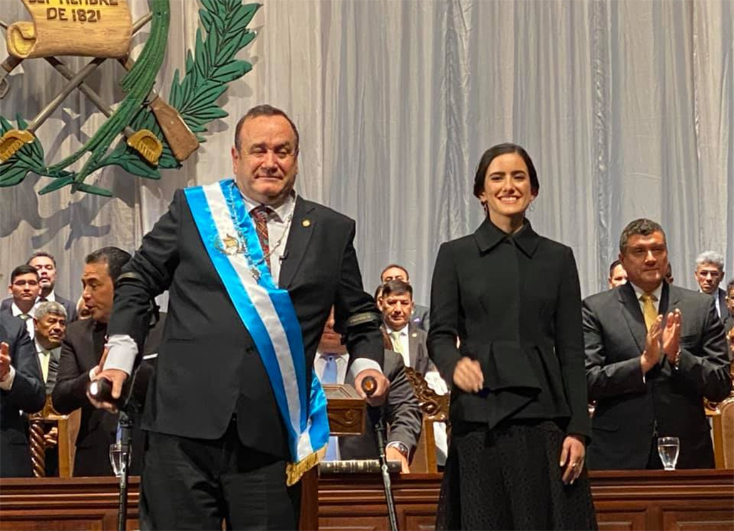 Hon. Patrick Faber Attends the Inauguration of the New President of Guatemala