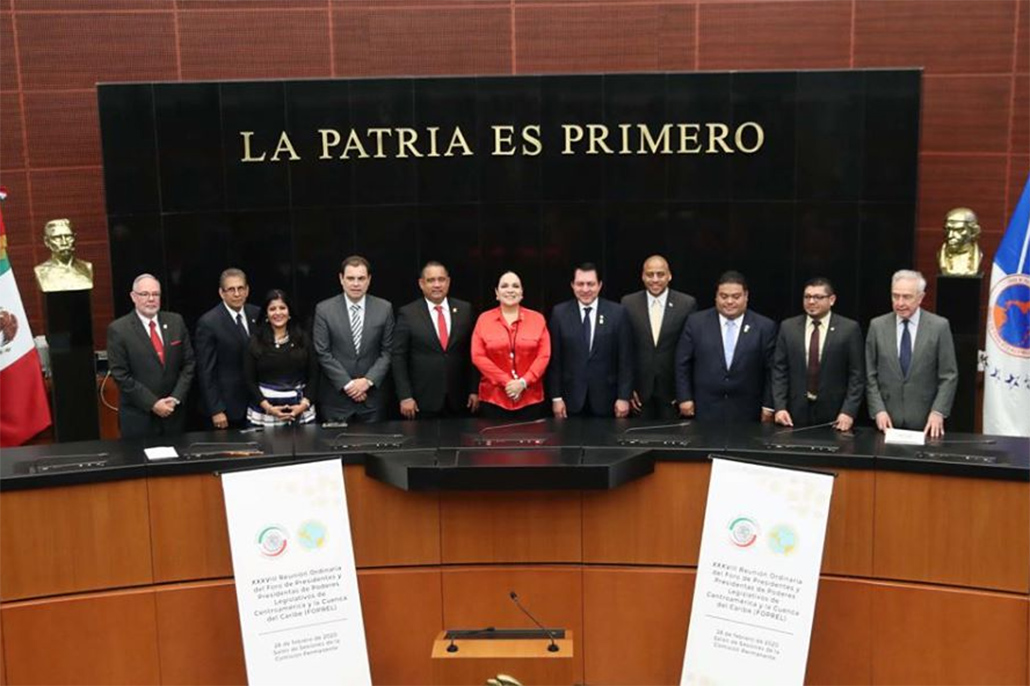 Belize's President of the Senate at FORPEL Meeting in Mexico City