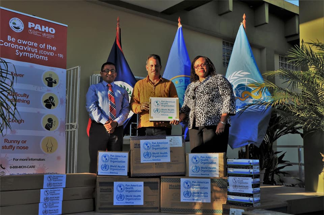PAHO/WHO Donates Personal Protective Equipment to Belize Ministry of Health