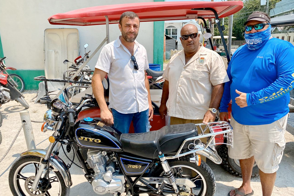 Motorcycle Donated to San Pedro Police Department