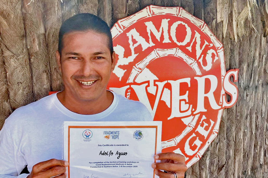 Adolfo Ayuso is San Pedro's Reef Builder, Fragments of Hope Reef Replenishment