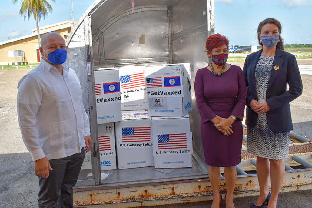 Belize Receives First shipment of 111,150 doses of Pfizer Vaccine