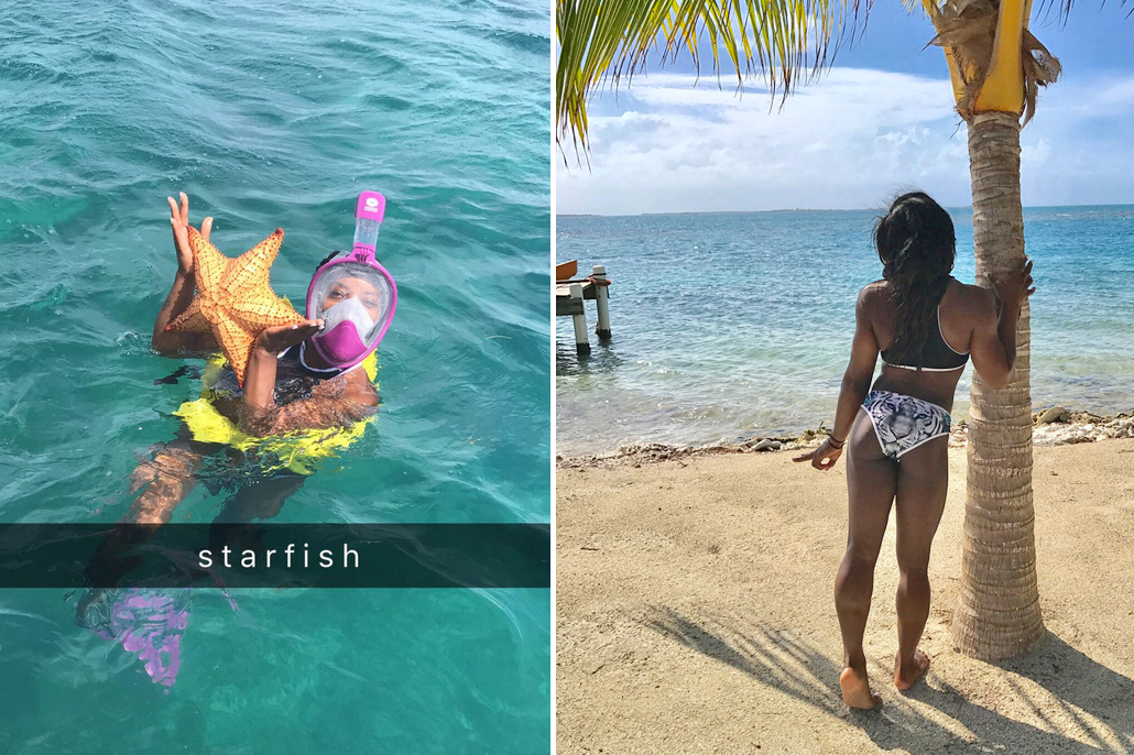 Celebrity Spotting; Can You Guess Who is Back in Belize? Simone Biles
