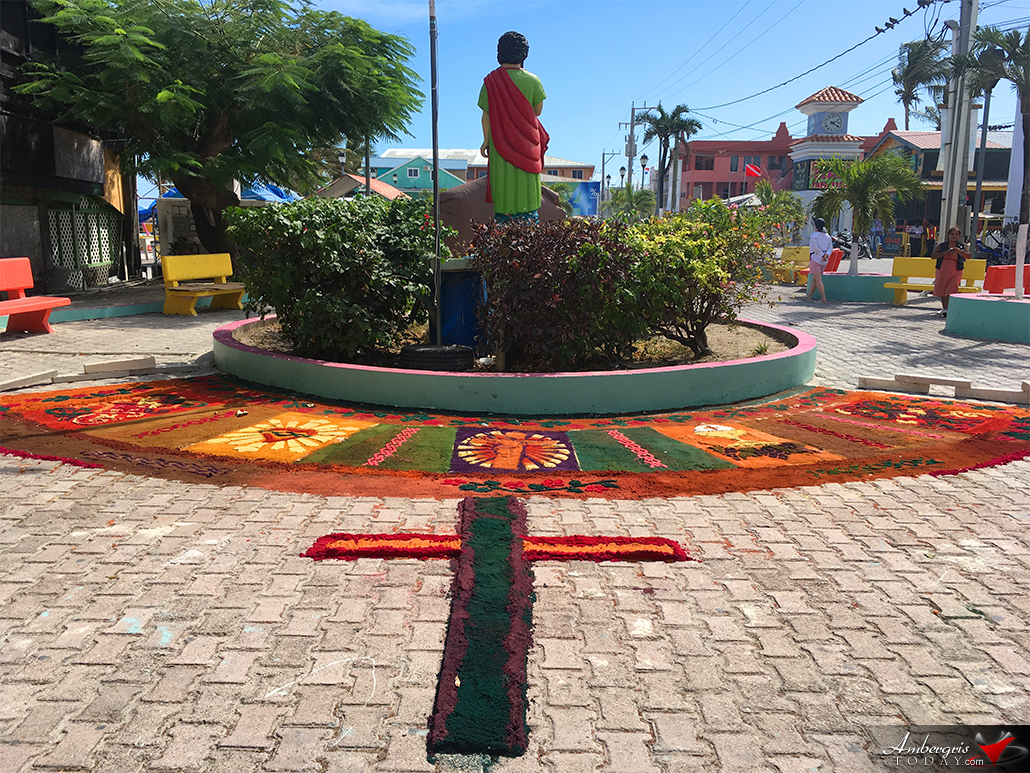Colorful Sawdust Carpets for Good Friday