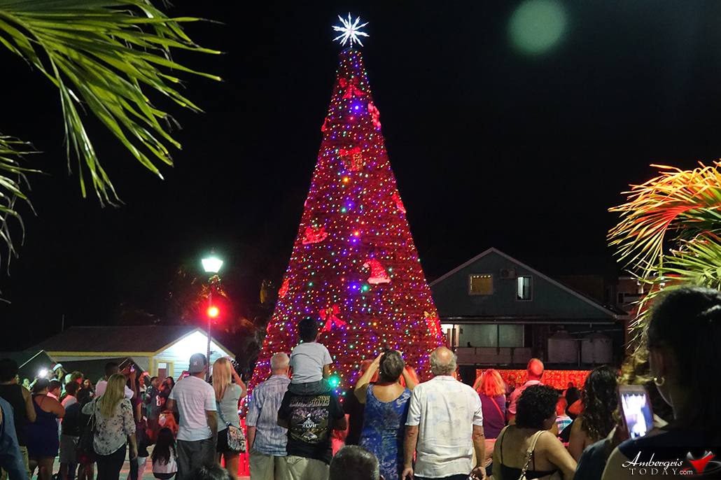 San Pedro Town Council Holds Lighting of Christmas Tree