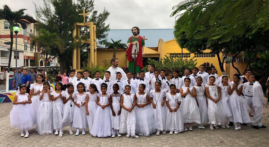 Island Students Receive Sacrament First Holy Communion
