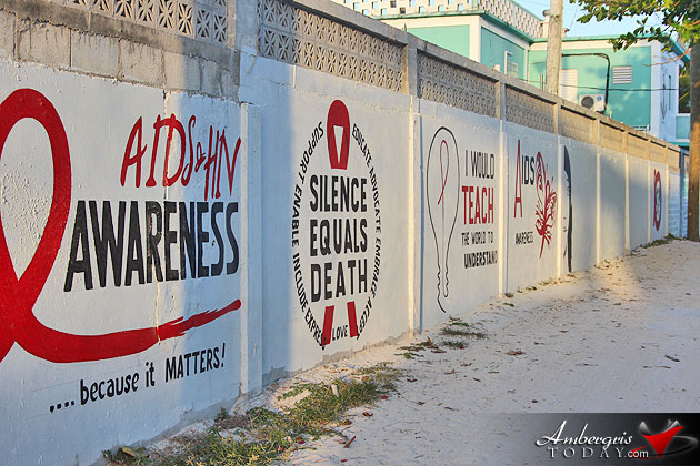 AIDS Commission Commences New Mural at San Pedro High