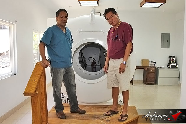 Hyperbaric Chamber at Ambergris Hopes Clinic Dr. Danny Dr. Allison