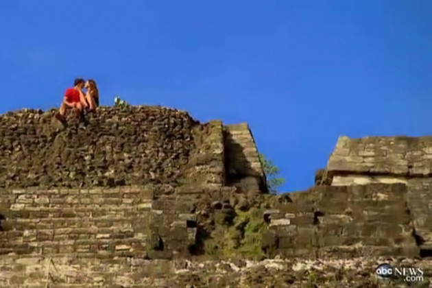 Ben Flajnik on a date in Belize at Lamanai Maya Ruins