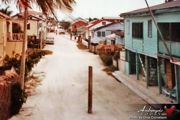 Where is the end of San Pedro Town?