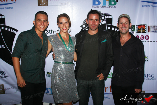 Horacio Guerrero, Joanna Popik, Ben Popik and Matthiew Klinck at Film Fest