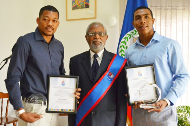 Belize Jaguars Football Players Honored with Award