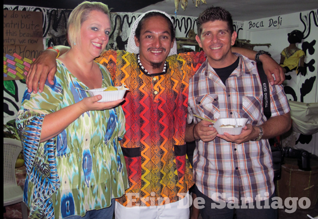 Travel writer Erin de Santiago with friends Walter Medina and Dorian Nuñez
