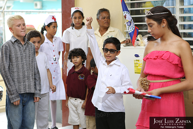 Patriotic Celebrations Continue in San Pedro at Isla Bonita Elementary