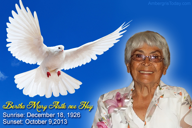 Eulogy for Bertha Mary Astle, Nee Hoy