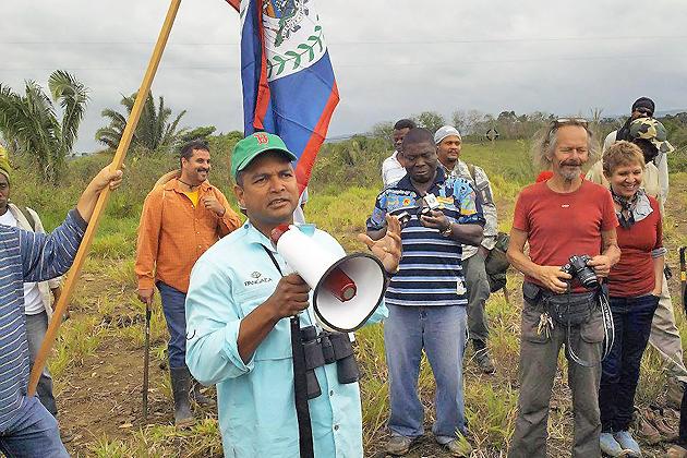 Belize Territorial Volunteers demarcate Belize's border lines