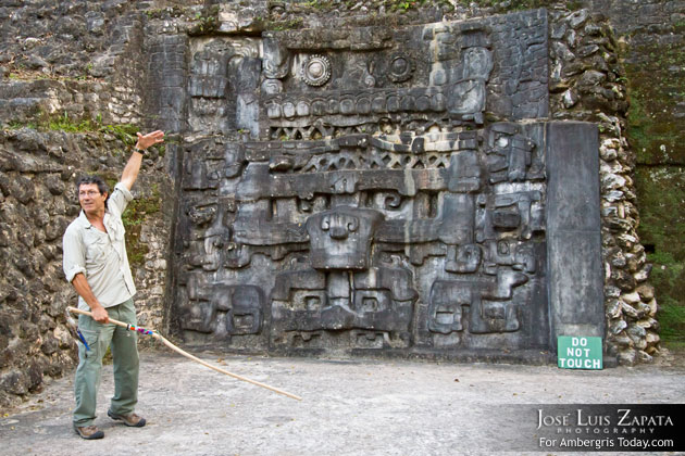 Belize's leading archaeologist, Dr. Jaime Awe at Caracol Maya Site