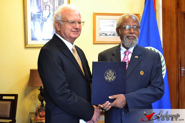 Carlos Moreno New U.S. Ambassador to Belize Presents Credentials