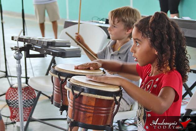 Music camp participants perform concert