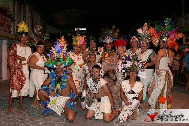 Street dancers during Carnaval Celebrations in San Pedro, Ambergris Caye, Belize