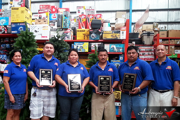 Castillo's Hardware Awards Four Outstanding Workers
