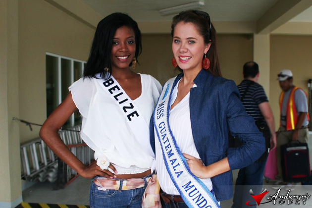 Miss Belize and Miss Guatemala