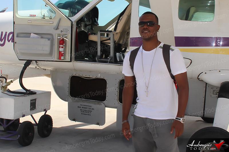 Kevin Lyttle Arrives to San Pedro, Ambergris Caye